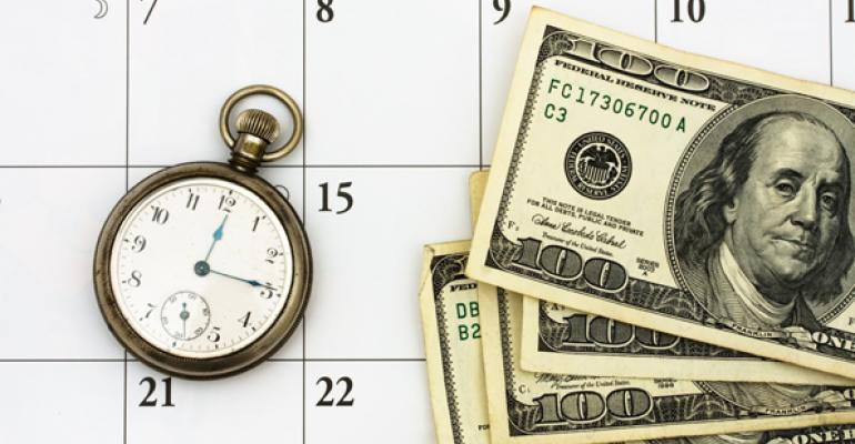 calendar money clock