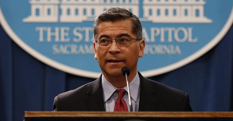 California Attorney General Xavier Becerra