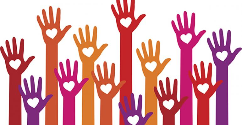 charitable giving hands
