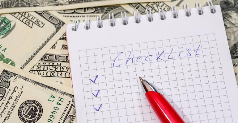 checklist money