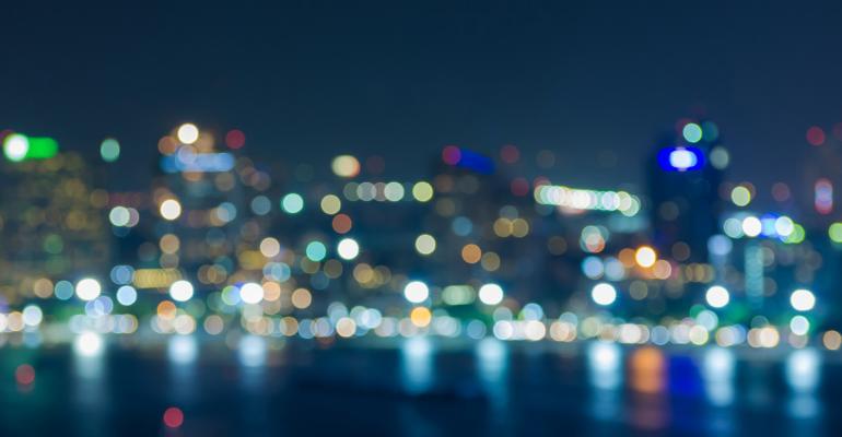 city blur night