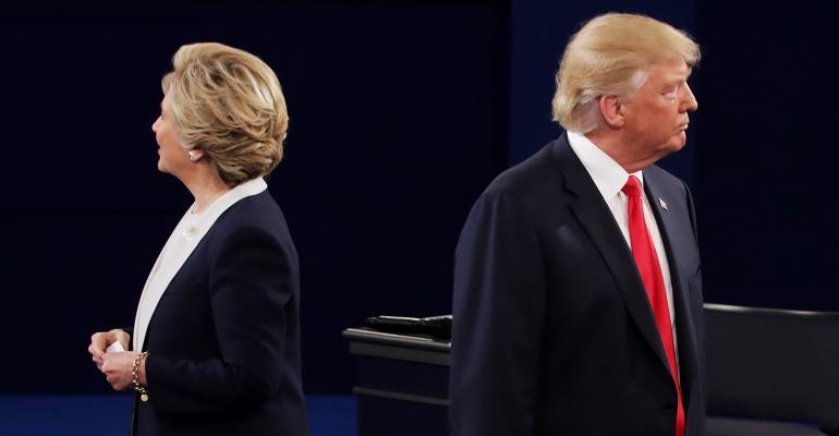 Trump Clinton opposite directions