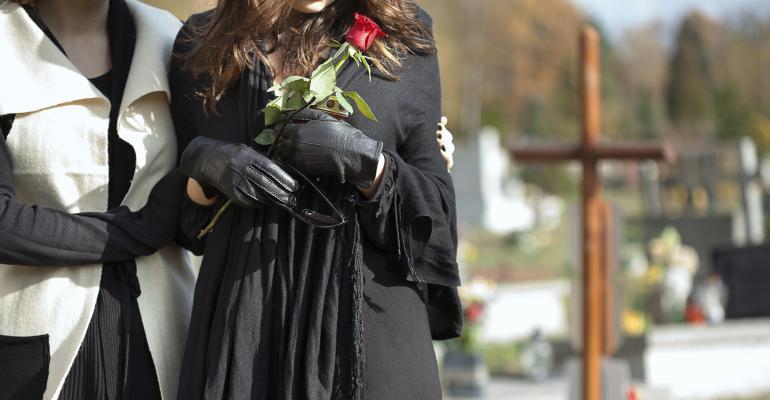 comforting at funeral