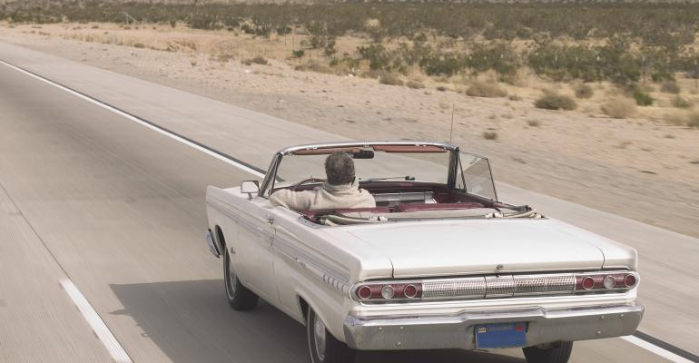 convertible on highway