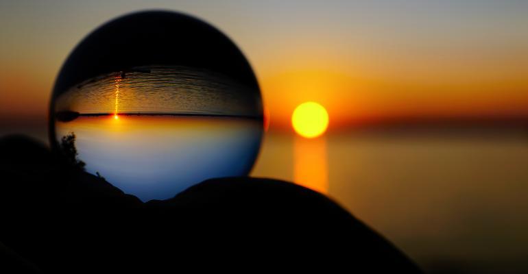 crystal ball beach sunset