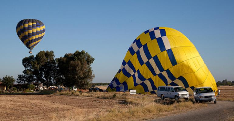 deflated hot air balloon
