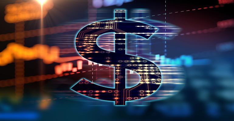 digital dollar sign