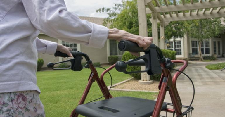 elderly lady walker