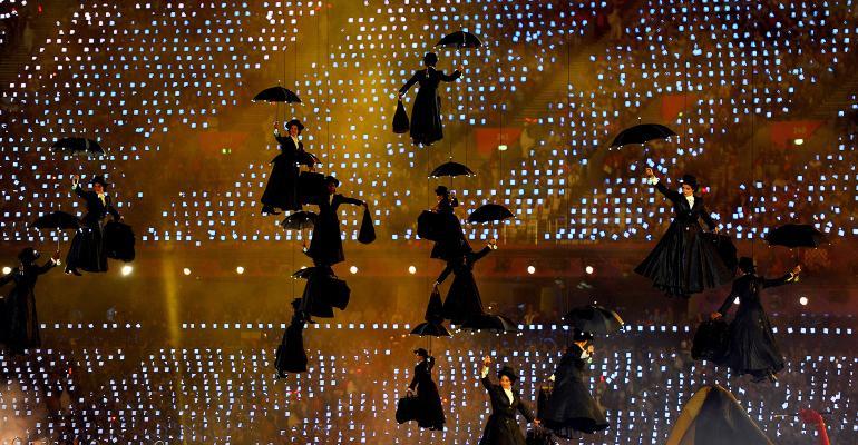 Flying Mary Poppins