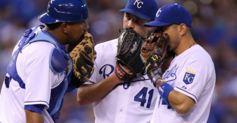 Kansas City Royals mound meeting