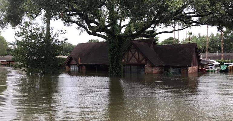 Houston house flooded