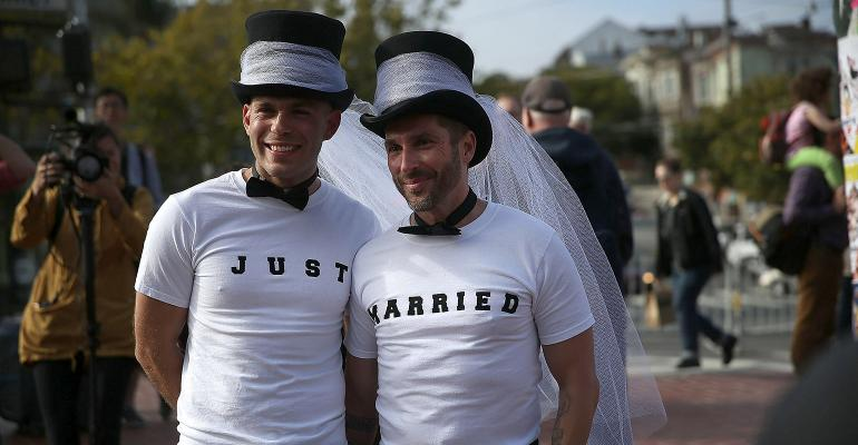 just married samesex marriage