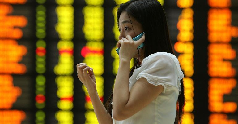 South Korea stock board