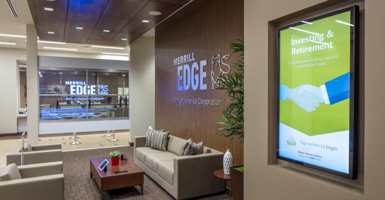 A Merrill Edge investment center.