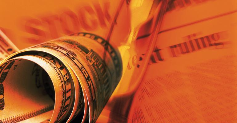money hourglass newspaper stock market