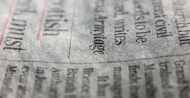 newspaper closeup