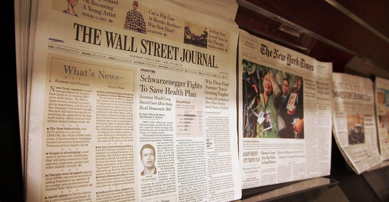 newspapers on newsstand