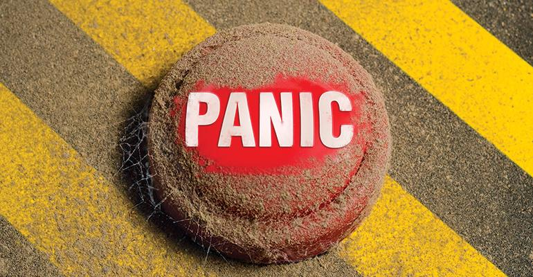 Panic button dusty