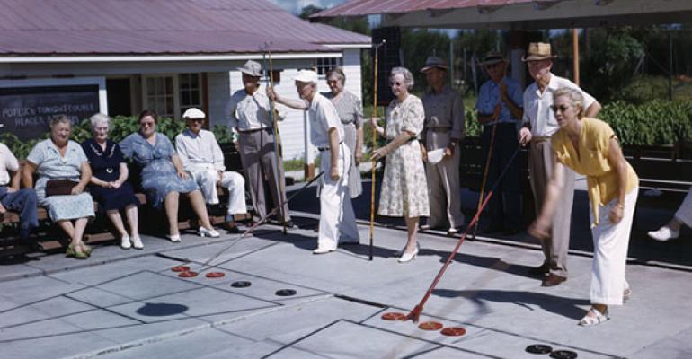 retirees shuffleboard