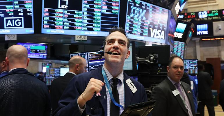 stock market cheering