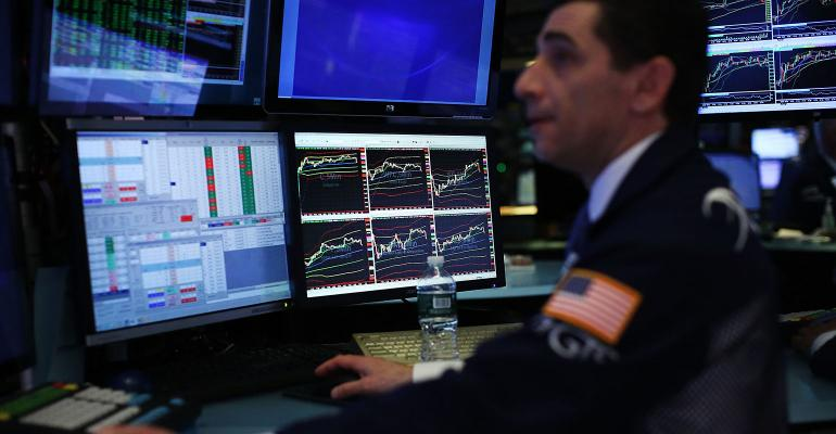 stock market trader screens
