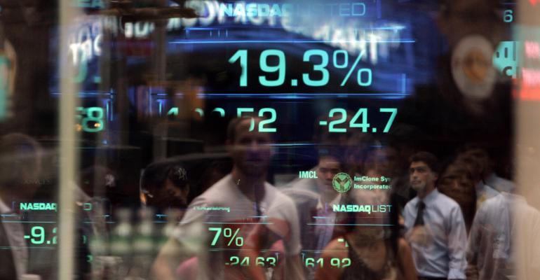 stock market window Nasdaq