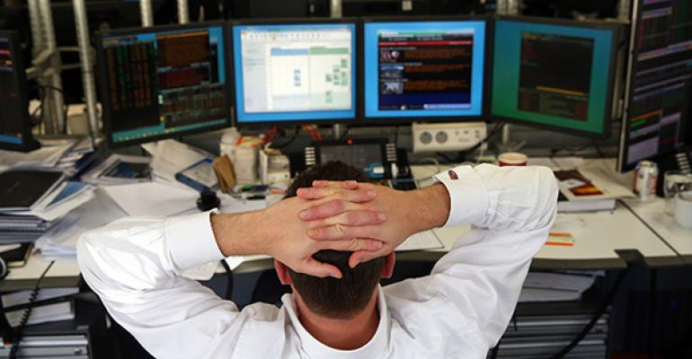 stock trader hands on head