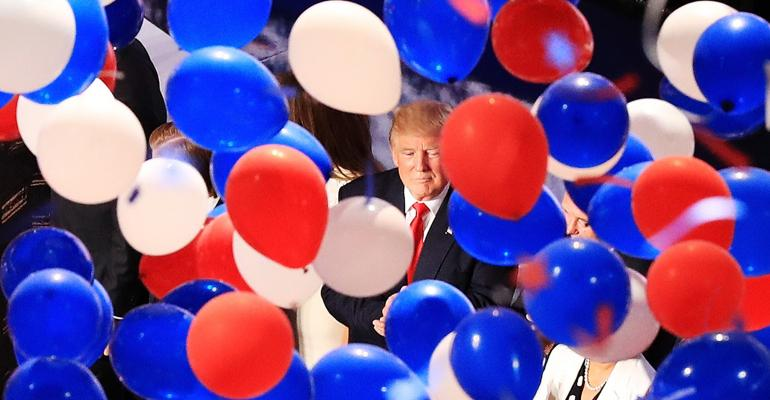 Donald Trump balloons