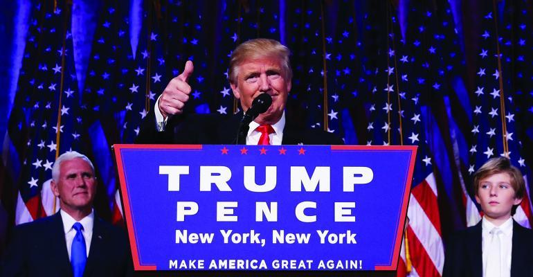 Donald Trump Barron Trump Mike Pence