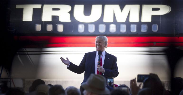 Trump rally plane
