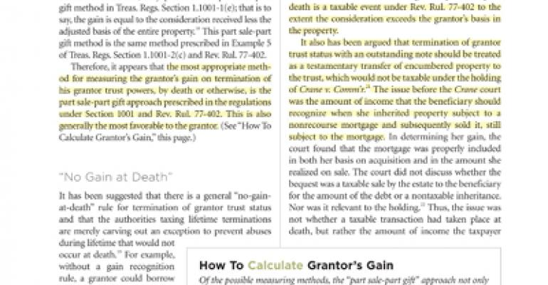 How to calculate a Grantor's Gain