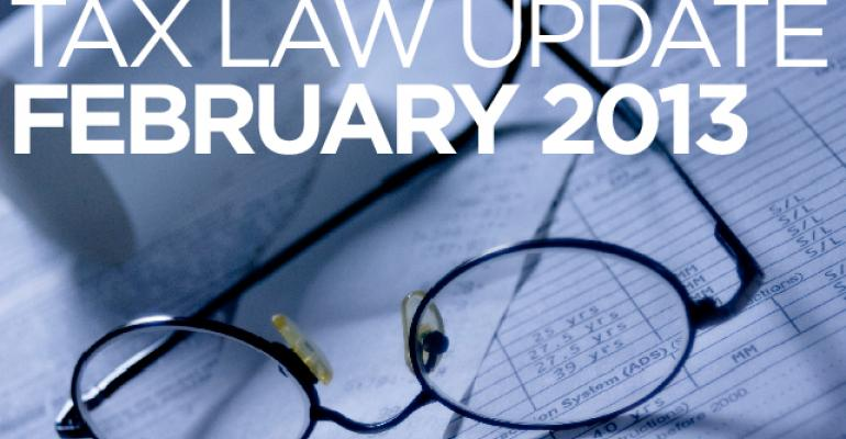 Tax Law Update February 2013