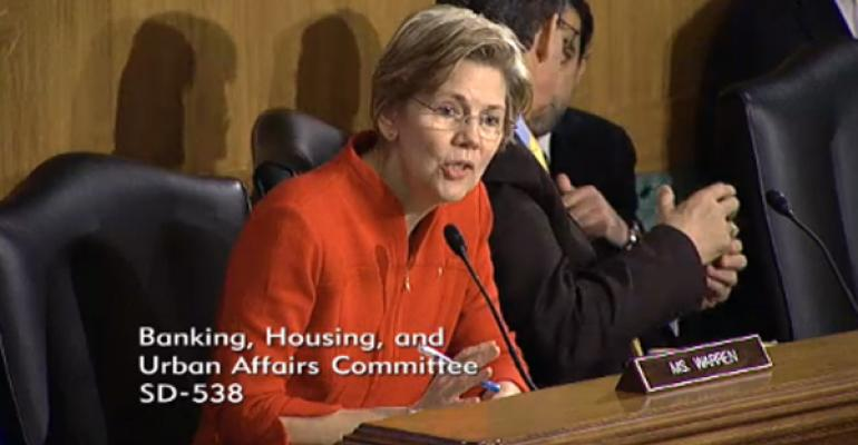 Warren Comes Out Swinging At Wall Street