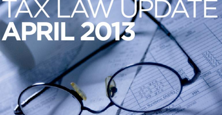 Tax Law Update April 2013
