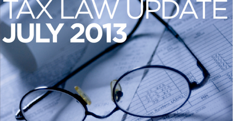 Tax Law Update: July 2013