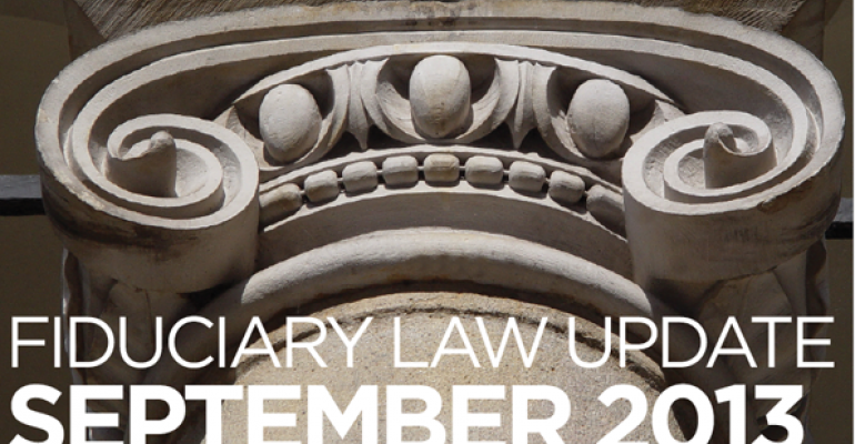 Fiduciary Law Update September 2013