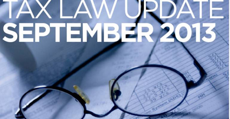 Tax Law Update: September 2013