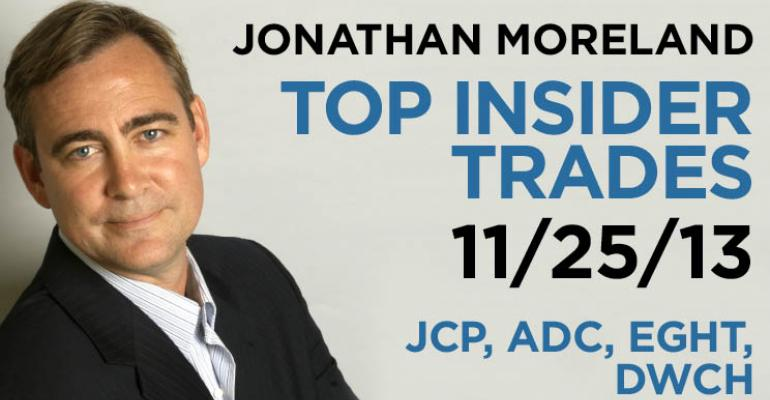 Top Insider Trades 11/25/13: JCP, ADC, EGHT, DWCH