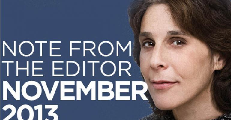 Note From The Editor November 2013