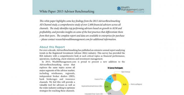 White paper:  AdvisorBenchmarking All-Channel Report