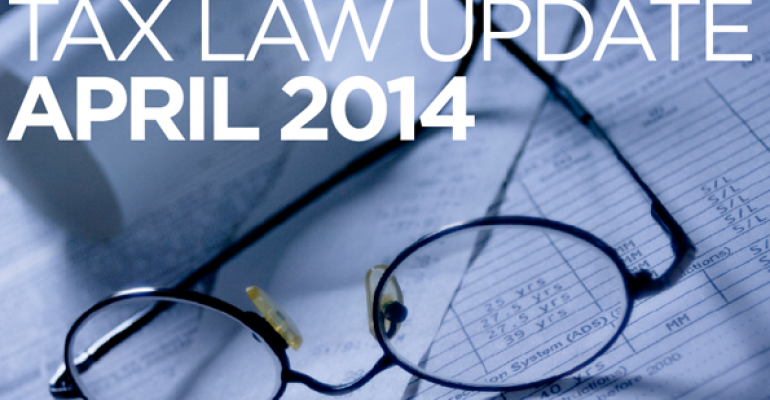 Tax Law Update: April 2014