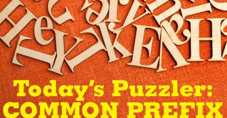 The Puzzler #41: Common Prefix