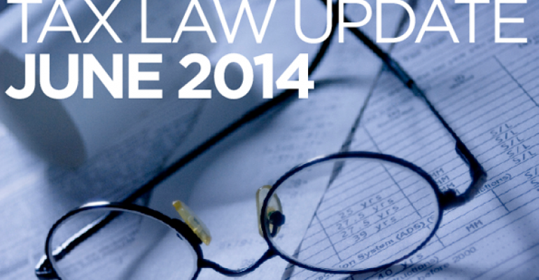 Tax Law Update: June 2014