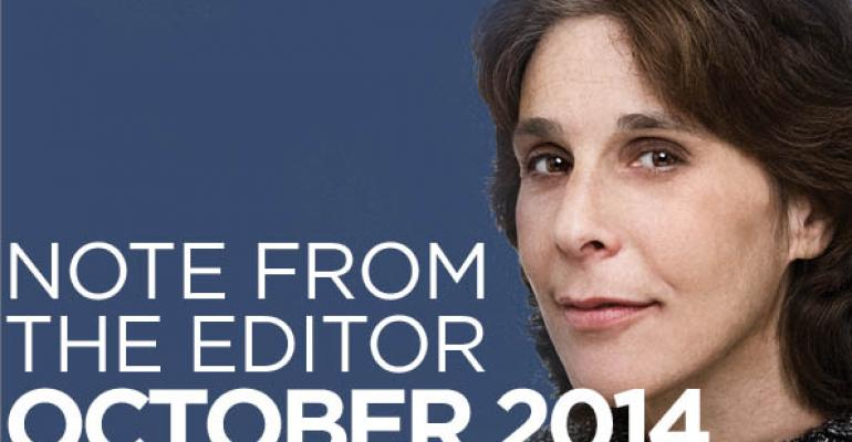 Note From The Editor: October 2014