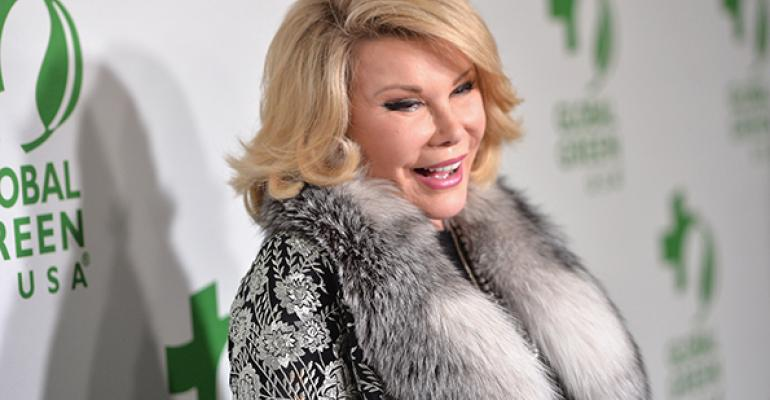 Joan Rivers joked was she really joking that she wanted a fabulously elaborate funeral