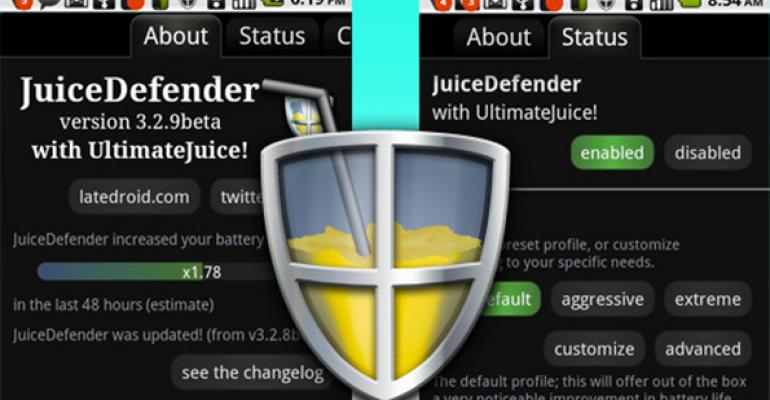 JuiceDefender is only available for Android phones