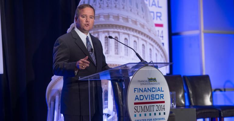 FSI President and CEO Dale Brown speaking at the organization39s recent Financial Advisor Summit event in Washington DC