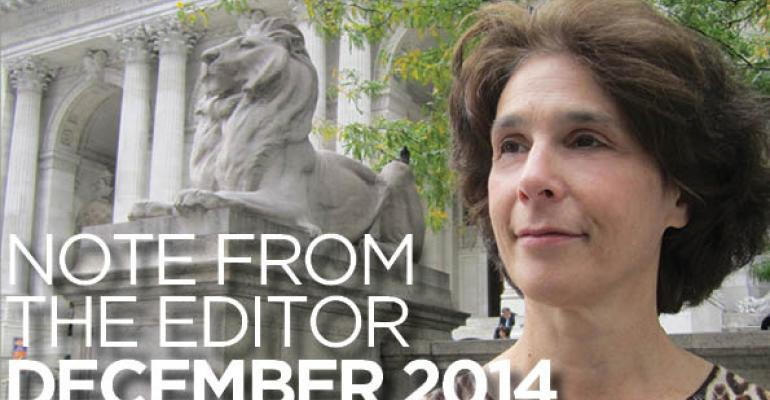 Note From The Editor: December 2014
