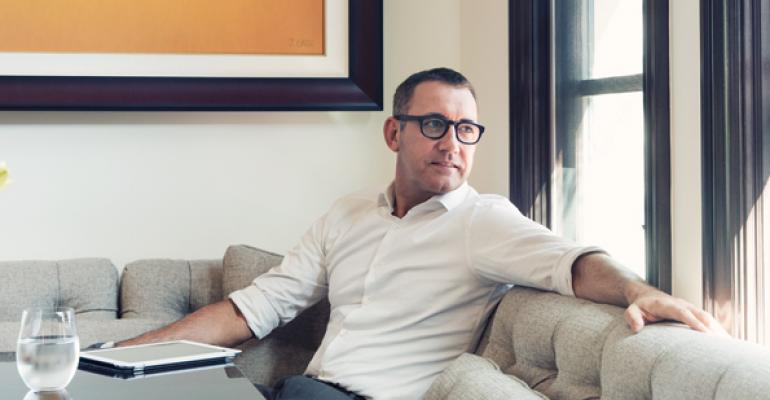 Joe Duran CEO of United Capital in his home in Newport Beach Calif
