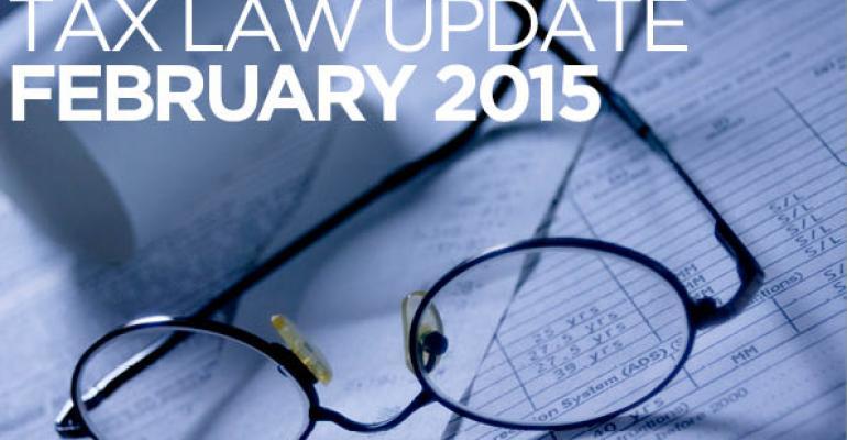 Tax Law Update: February 2015